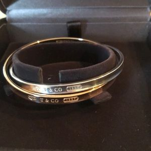 Tiffany &Co 18K & Sterling Interlocking Bagles